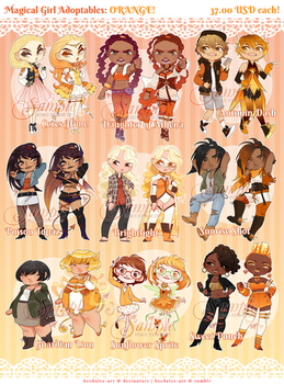 Magical Girl Adopts - ORANGE [SOLD]