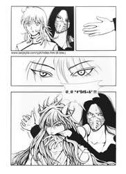 Youko Kurama bite Karasu by ladykylie