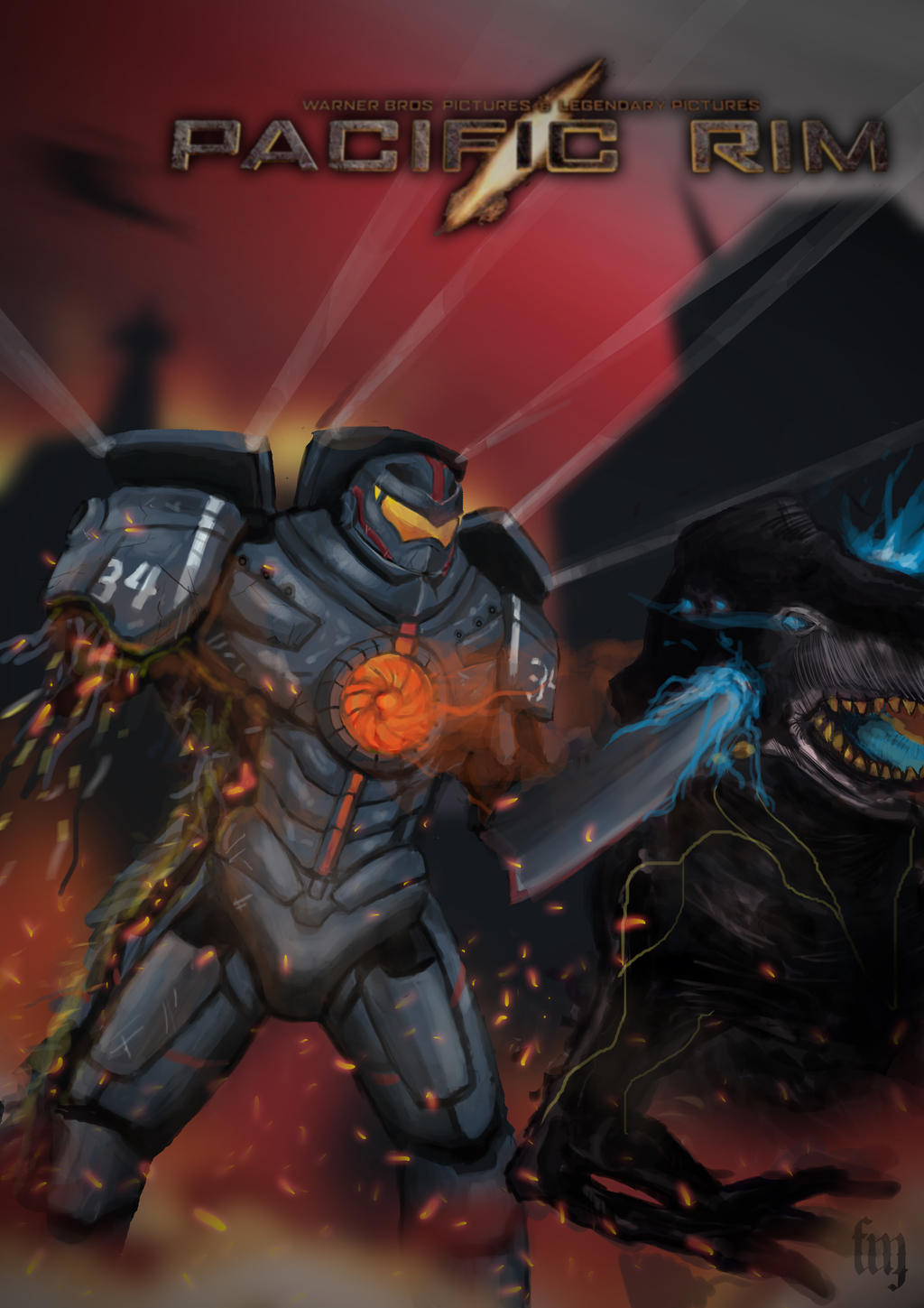 Gipsy Danger V Knifehead by 49joker on DeviantArt
