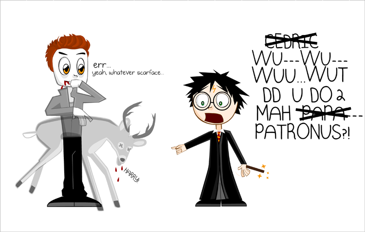 TW and HP crossover III by crepusculito