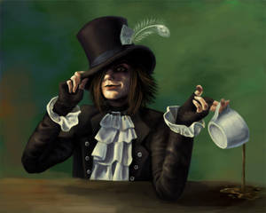 Mad as a Hatter Self Portrait