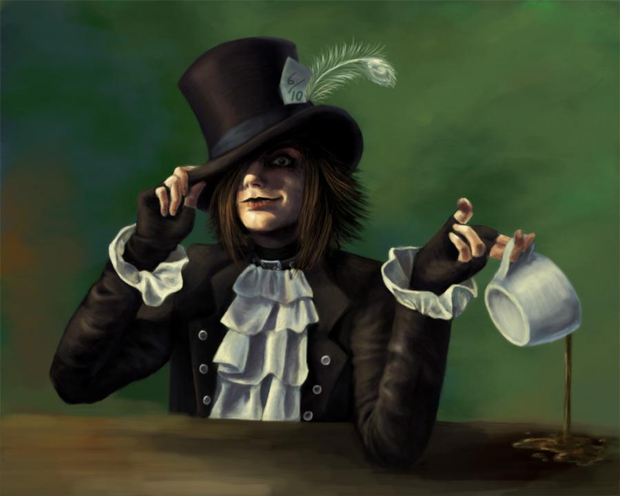 Mad as a Hatter Self Portrait by Kitsune-aka-Cettie