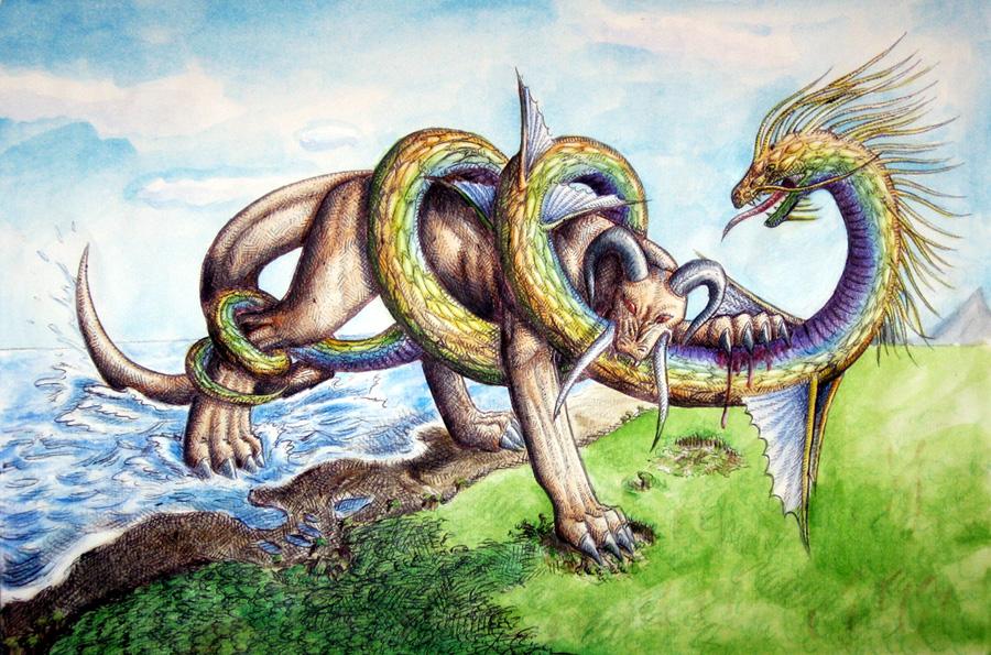 Leviathan vs. Behemoth by Kitsune-aka-Cettie on DeviantArt