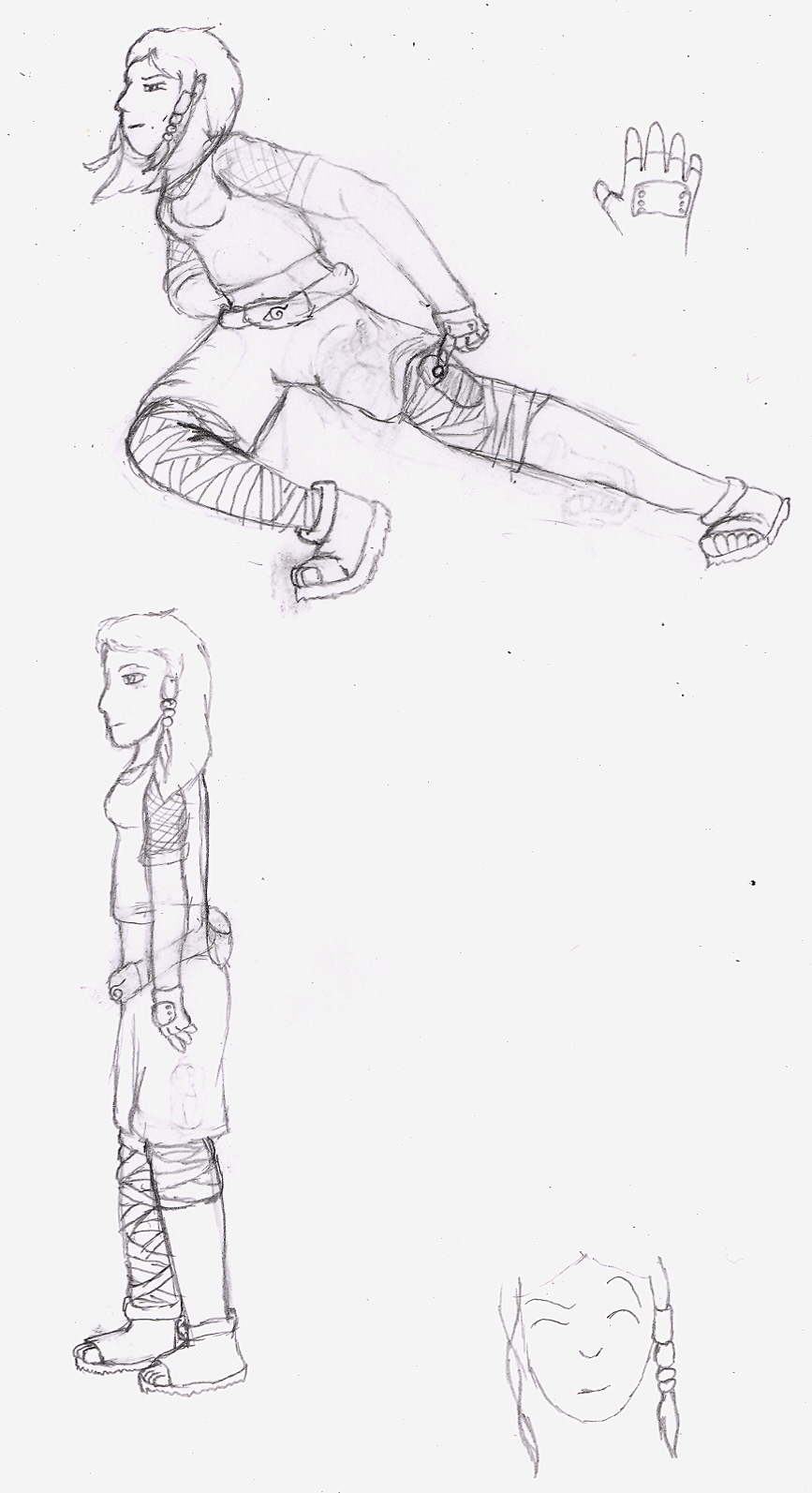 My Naruto Character - Sketches by Quachir