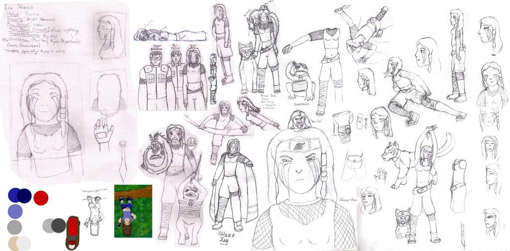 Many Sketches of Shinzo Inu by Quachir