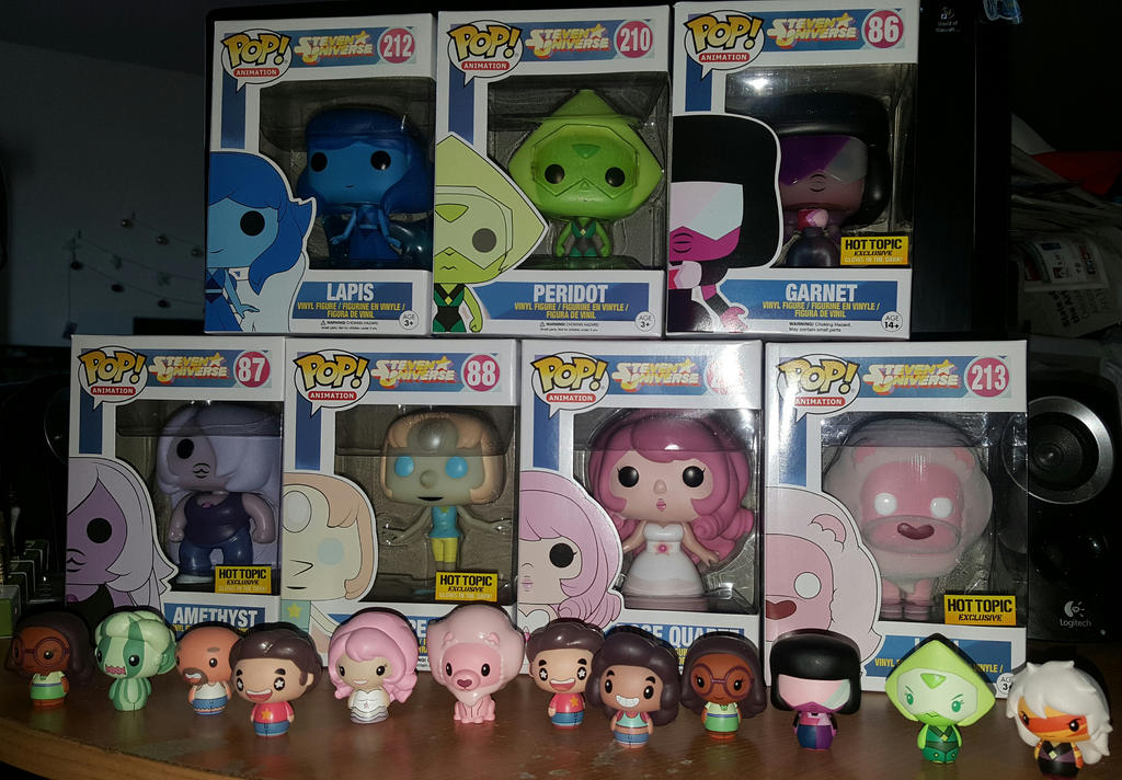 Funko Pop and Pint Sized Heroes Steven Universe by Quachir