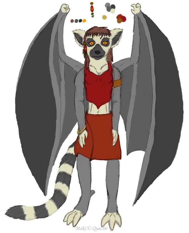Maki the Lemur Gargoyle by Quachir