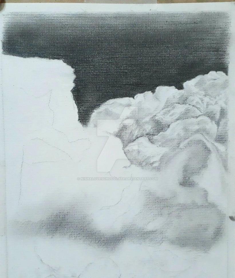 Pencil wip clouds by nishaloveschocolate on deviantart