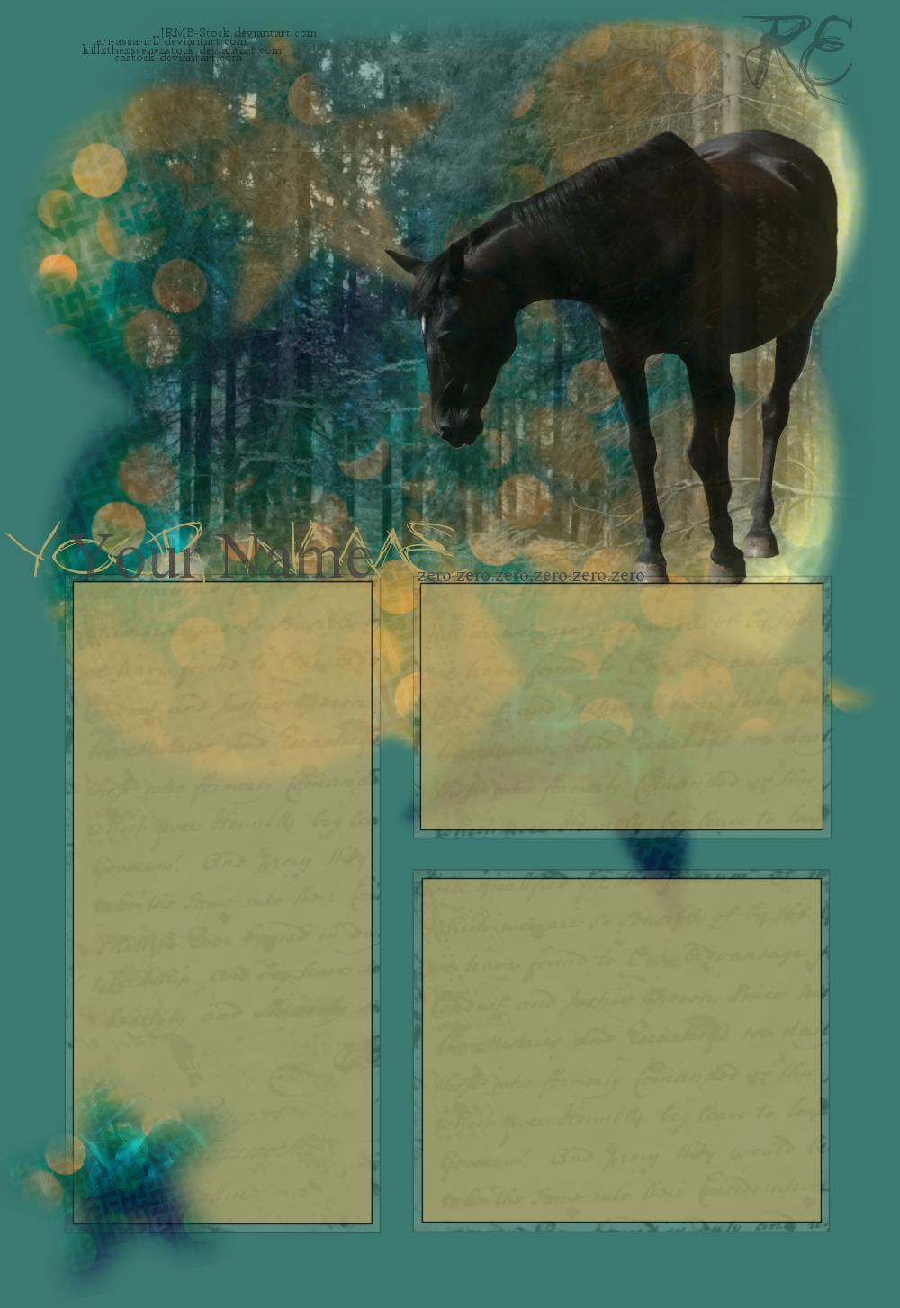 Black Horse by friesian21