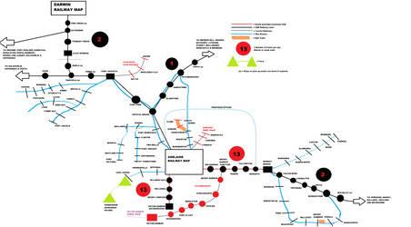 My Fantasy version SA-NT Railway map