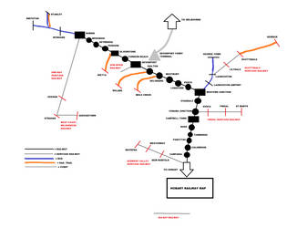 My fantasy version Tasmania railway map