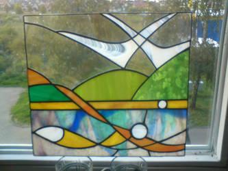 fish and birds - vitrail by toroj