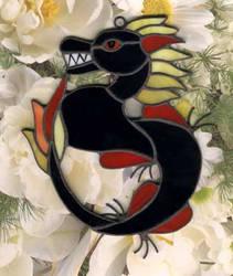 black chinese dragon by toroj