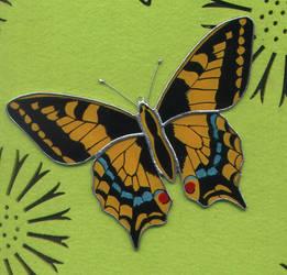 butterfly Papilio machaon by toroj