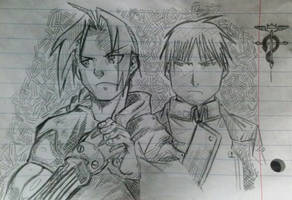Edward Elric and Roy Mustang by zuko-zx
