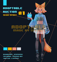 [ OPEN ] ADOPTABLE #01 Neon spirit by SPYPSY. by SPYPSYPHY