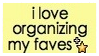 I organize my favorites -stamp- by ParamourxLights