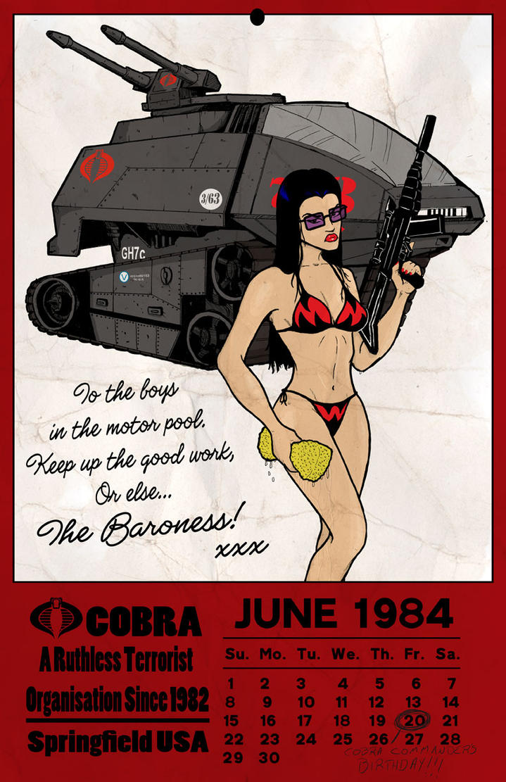 The Baroness Calender by Kyohazard