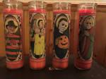 Saintly Slashers Candles