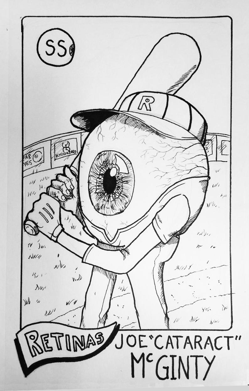 Drawlloween Day 8: Eyeball by Kyohazard