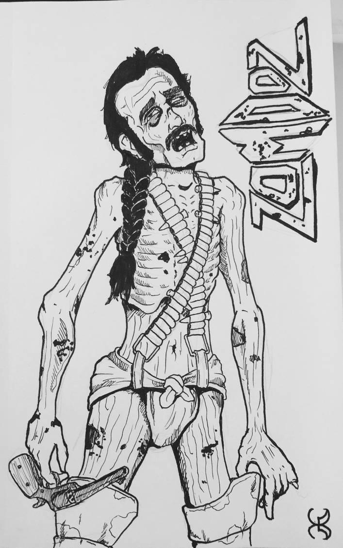 Emergency Drawlloween 8: Zombie by Kyohazard