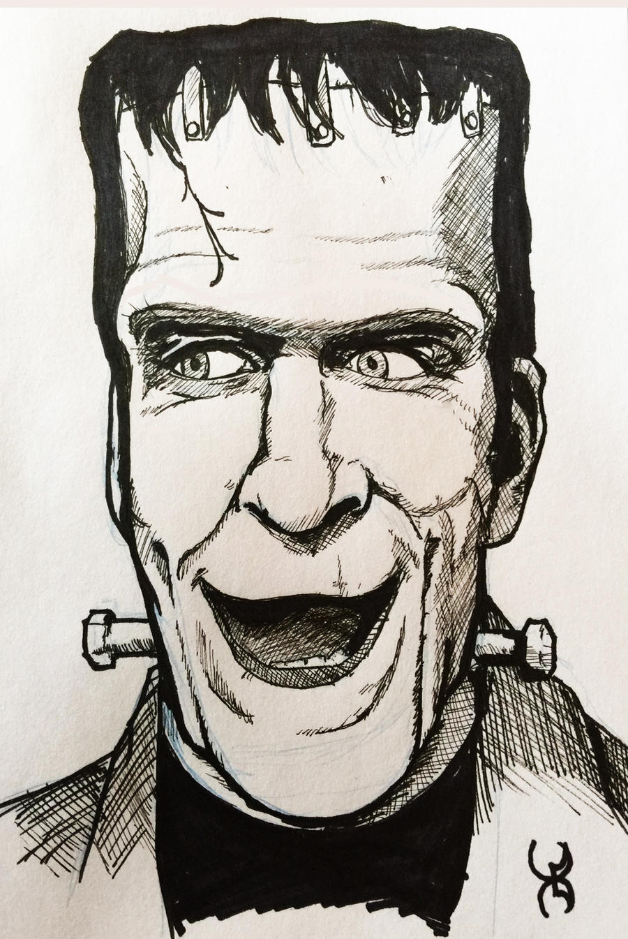 Drawlloween 13: Frankenstein (Nee Munster) by Kyohazard