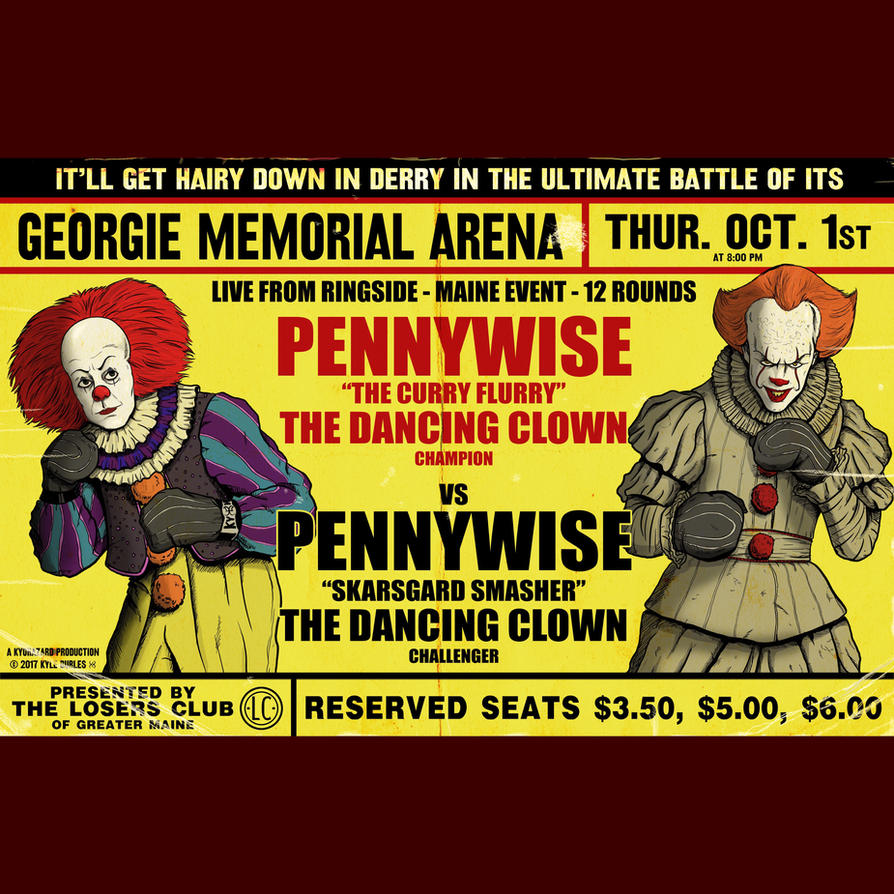 Pennywise vs Pennywise boxing poster by Kyohazard