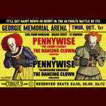 Pennywise vs Pennywise boxing poster