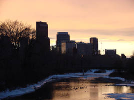 sunset in Calgary by Kyohazard