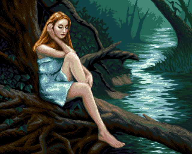 PIXELART At the riverbank by loriean