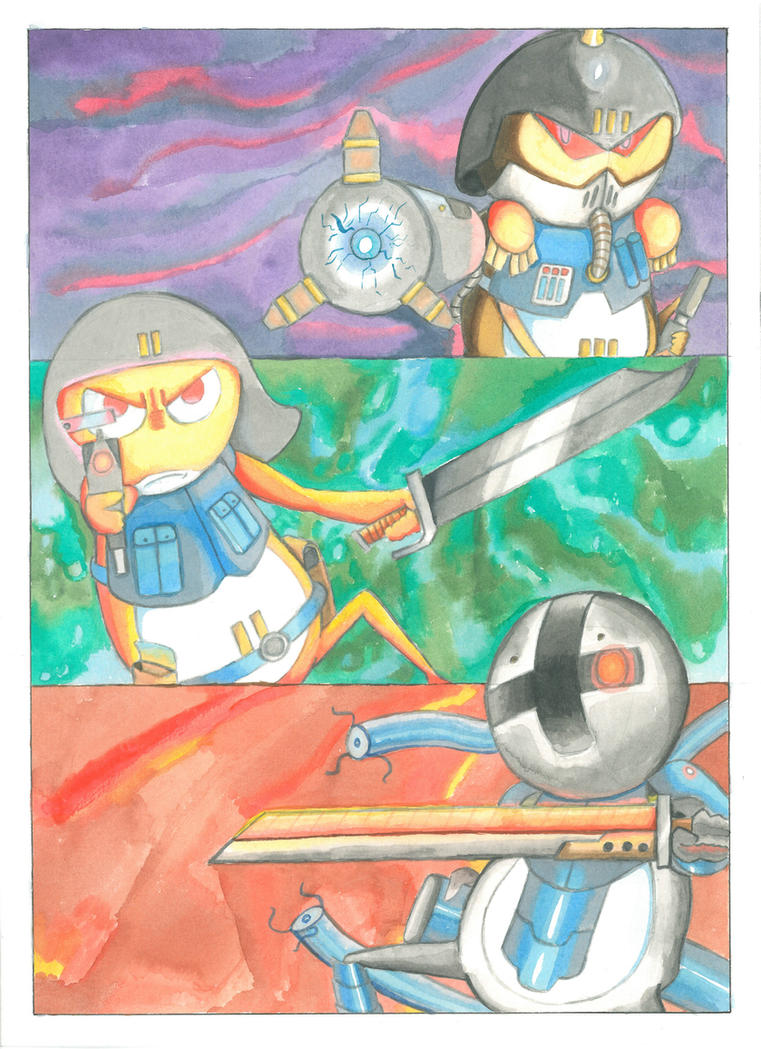 Some sgt. Frog OCs [Watercolor] by MidnightDJ-SK