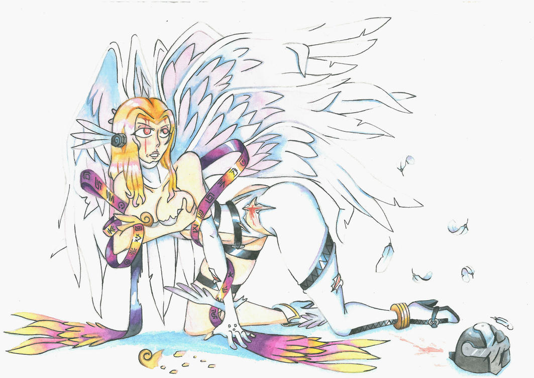 (Injured) Angewomon - 3 by MidnightDJ-SK