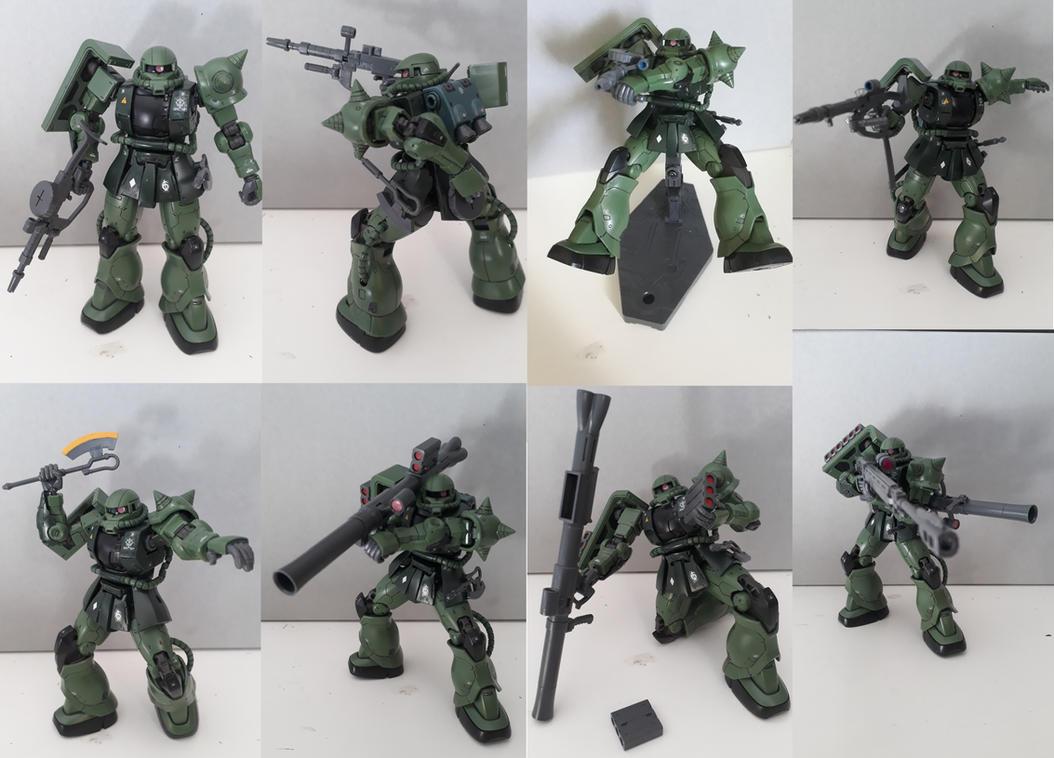 Gunplashowcase: MS-06c Zaku Type C-5 by MidnightDJ-SK