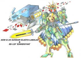 (Fan made) Gundam Glasya-Labolas by MidnightDJ-SK