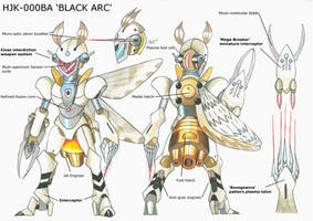 Medabot_oc: HJK-000BA 'Black Arc' by MidnightDJ-SK