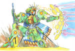 Green Sentinel raises its shield by MidnightDJ-SK
