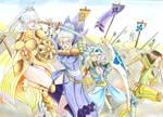 Flower guardians march to war by MidnightDJ-SK