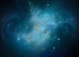 Blue space nebula by Bull53Y3