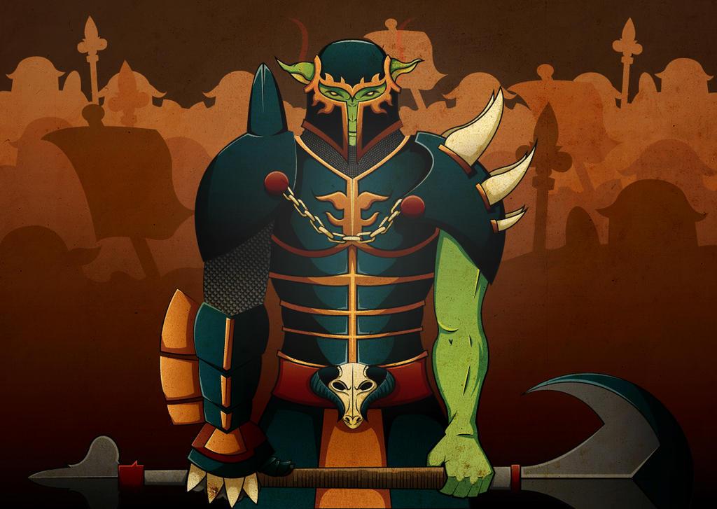 Goblin Warmonger by Gorillafactor