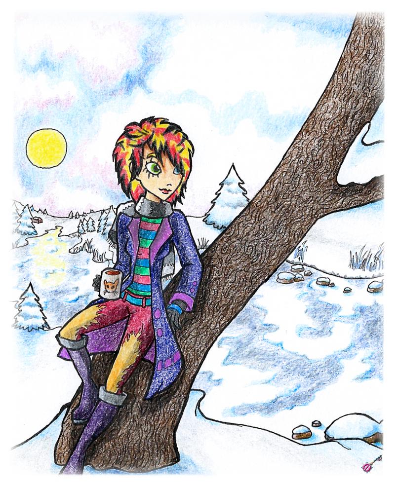 Zaly in the snow by Ozeana-06