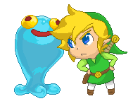 Toon Link and the Blue Blob by MaelStrhom