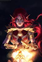 Finished YCH: Night Warrior 1 by FlexyChan
