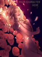Gold Roses YCH 2 [Close] by FlexyChan