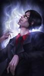 Finished YCH: Smoke by fcartt