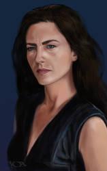 Claudia Black speed paint by tonyob