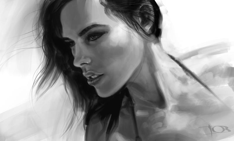 Lauren sketch by tonyob