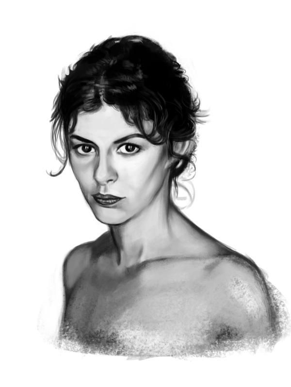 Audrey Tautou sketch 2 by tonyob