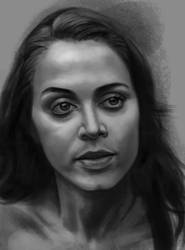 Eliza Dushku sketch 3 by tonyob
