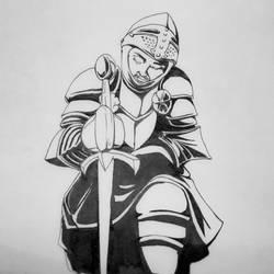 Inktober day 14, Armor