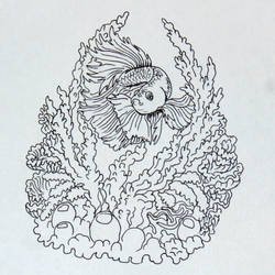 Inktober day 20, Coral